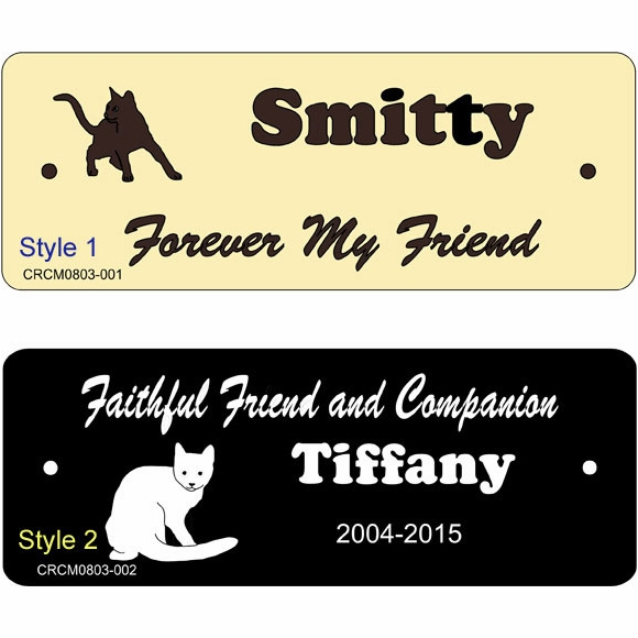 Personalized Cat Memorial Plaque