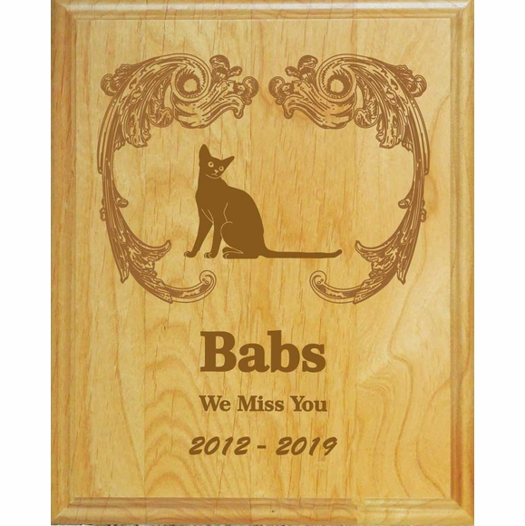 Personalized Cat Memorial Wall Plaque