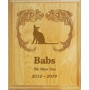 Personalized Cat Engraved Wood Memorial Wall Plaque