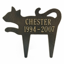 Personalized Cat Silhouette Memorial Marker