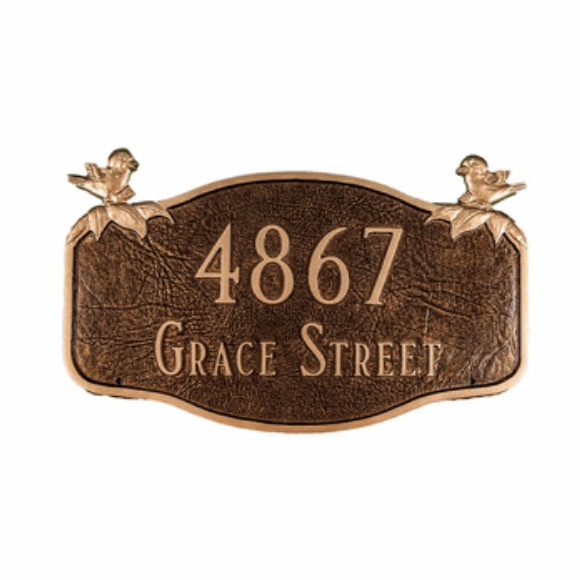 Personalized Chickadee Address Plaque