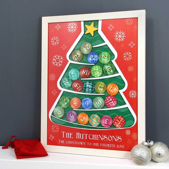 Personalized Christmas Tree Advent Calendar