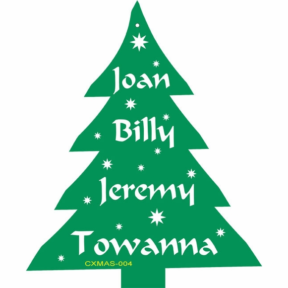 Personalized Christmas Tree Shape Ornament