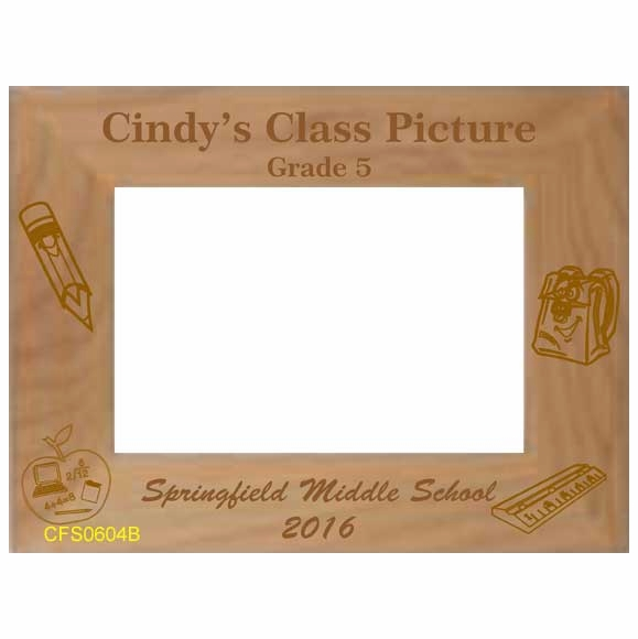 Personalized Class Picture Custom Engraved Picture Frame