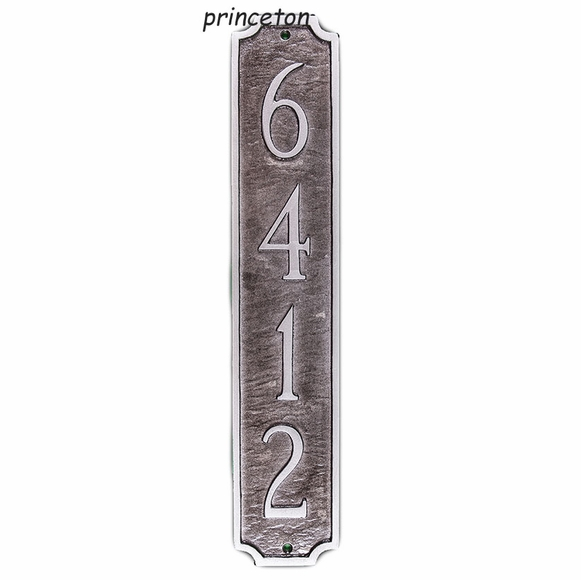 Personalized Column Address Plaque - Vertical House Number Sign