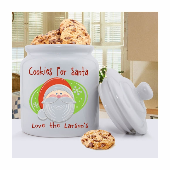 Personalized Cookies for Santa Cookie Jar