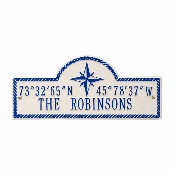 Personalized Coordinates Address Plaque With Your Name, Longitude, and Latitude