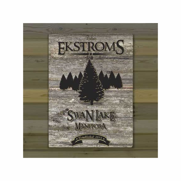 Personalized Country Cabin Canvas Print