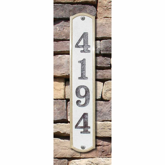 Crushed Stone House Number Sign