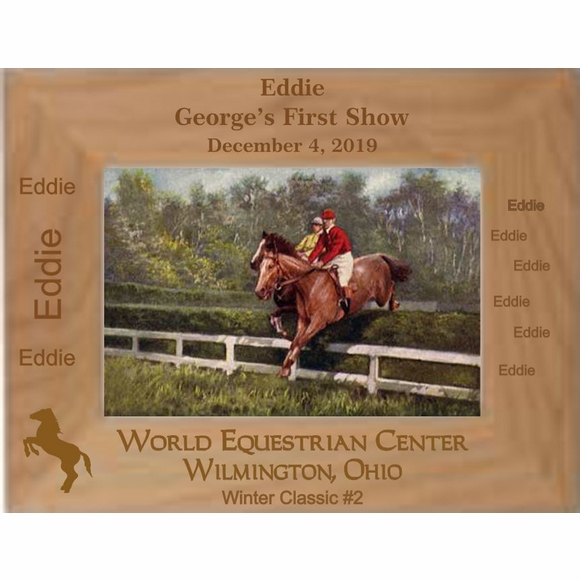 Personalized Horse Equestrian Competition Picture Frame