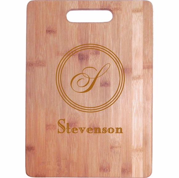 Personalized Cutting Board With Monogram and Name
