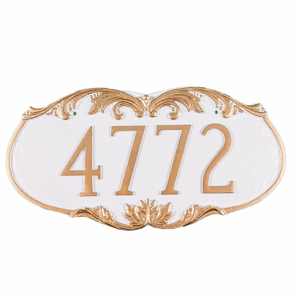 Personalized Address Number Plaque With Ornate Embellishments