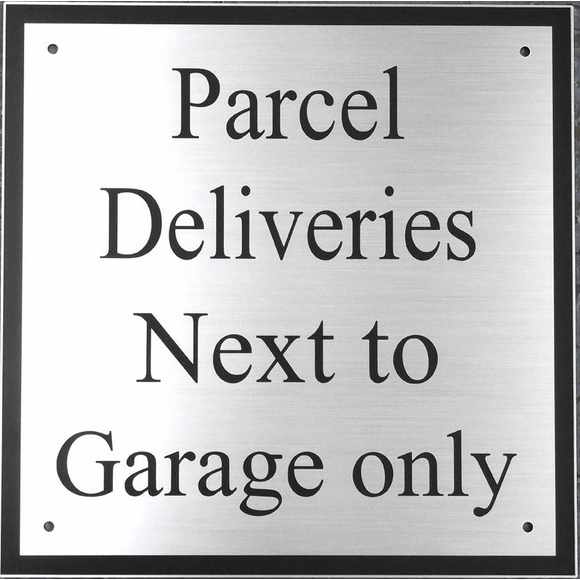 Personalized Package Delivery Instructions Sign