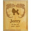 Personalized Dog Memorial Wall Plaque