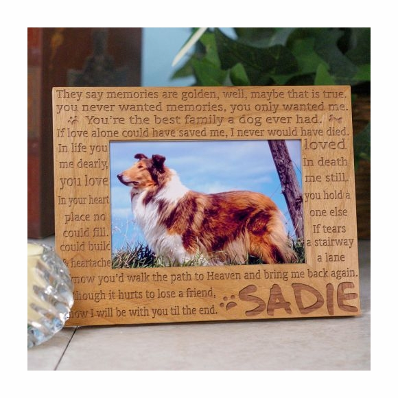 Personalized Dog Remembrance Memorial Picture Frame