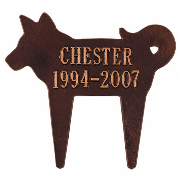 Personalized Dog Shape Memorial Marker