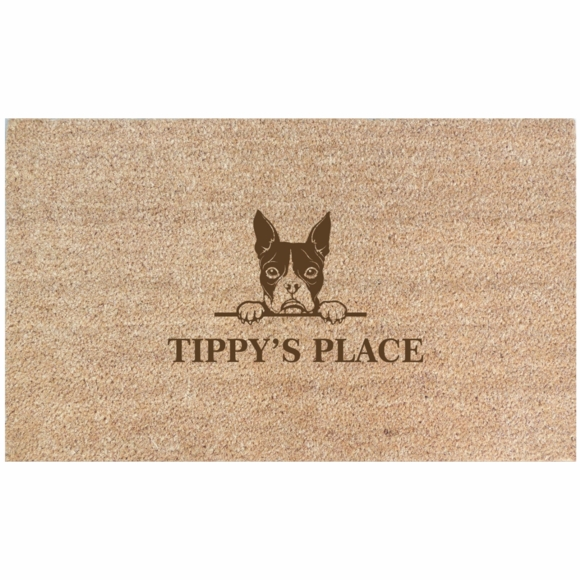 Personalized Doormat With Name and Dog Image