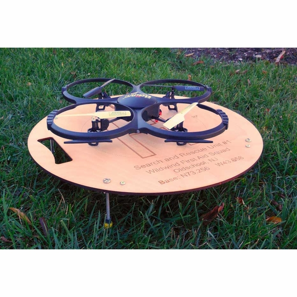 Personalized Drone Landing Pad - Choose Wood or Acrylic