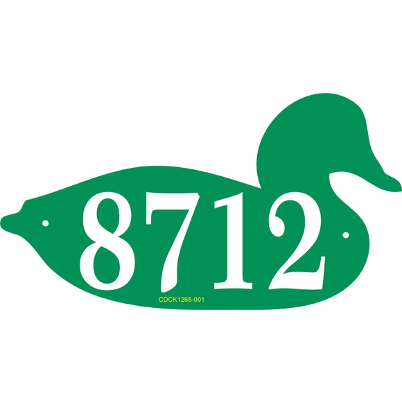 Personalized Duck Shape Address Plaque