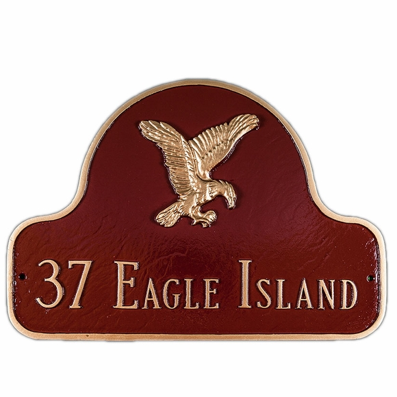Home Address Plaque With Eagle - Custom Address Sign