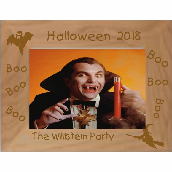 Personalized Halloween Party Picture Frame