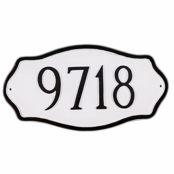 Estate Size House Number Sign - Large Address Plaque