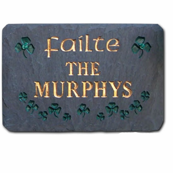 Personalized Slate Failte Irish Welcome Plaque