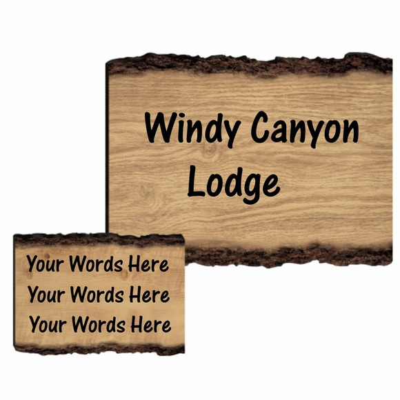 Personalized Log Wall Plaque - Rustic Faux Wood Split Log Sign