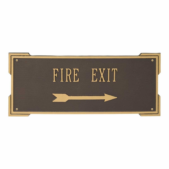 Large Custom Sign With Arrow - Fire Exit, Entrance, Elevator, Lobby, Parking Lot, Your Own Wording