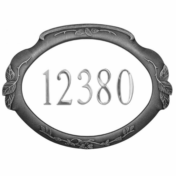 Personalized Floral Address Plaque