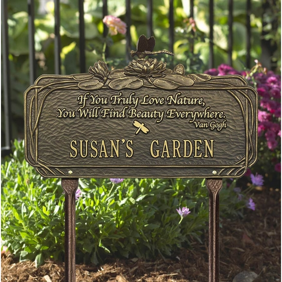 Personalized Garden Plaque with Poem