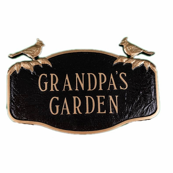 Personalized Garden Sign with Cardinals