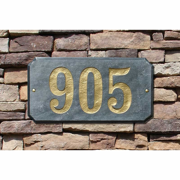 Personalized Granite Address Plaque with Extra Large 6