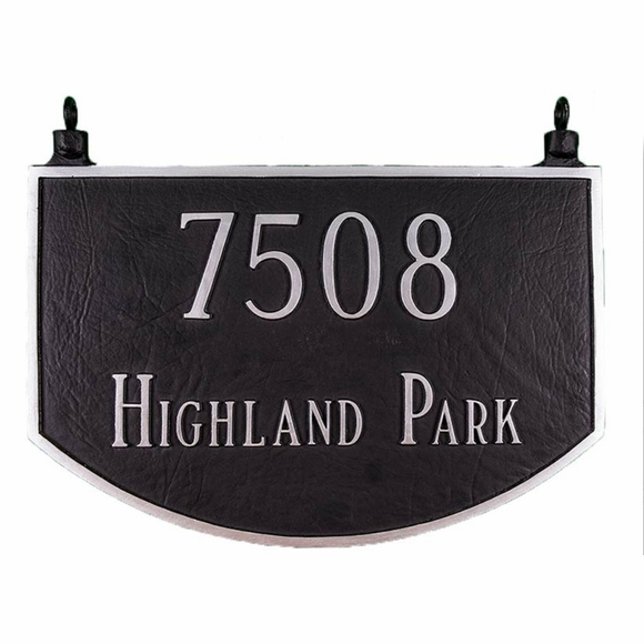 Personalized Hanging Arch Two Sided Home Address Sign