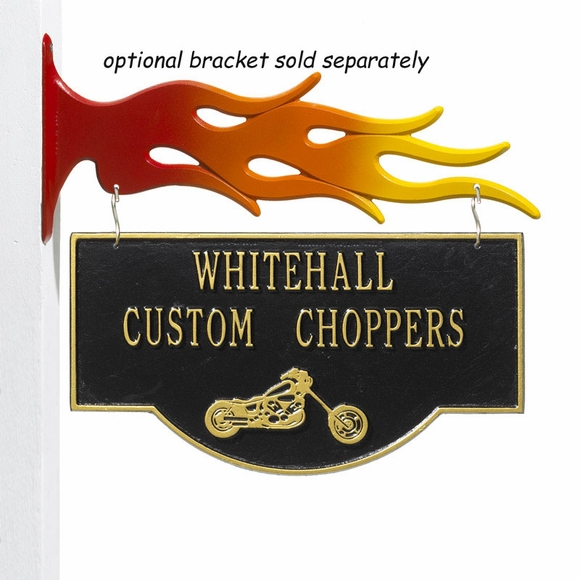 Chopper Motorcycle Plaque Hanging Sign