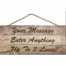 Personalized Hanging Wood Plaque