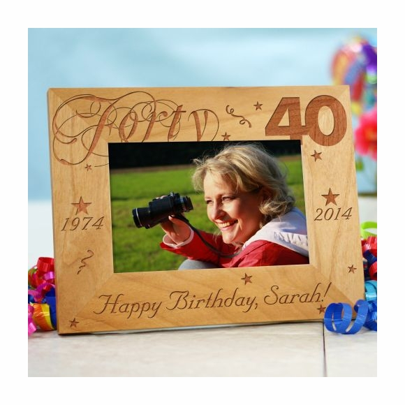 Personalized Happy 40th Birthday Picture Frame
