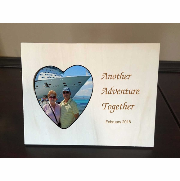 Personalized Picture Frame With Heart Shape Photo Cutout