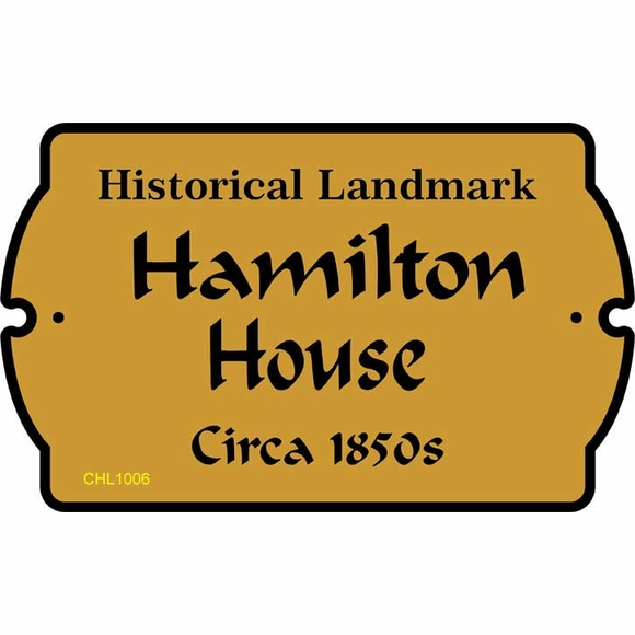 Personalized Historical Landmark Plaque