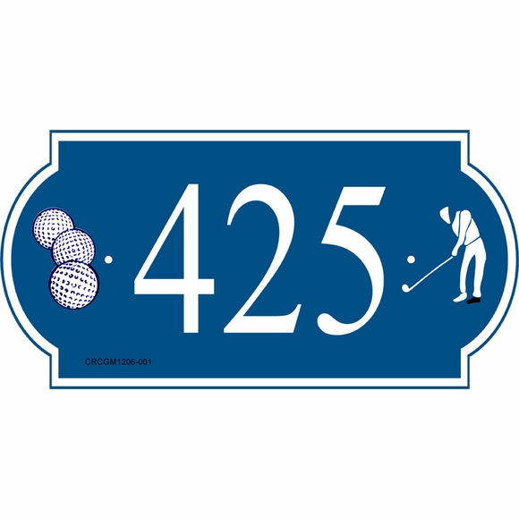 Golf Address Sign