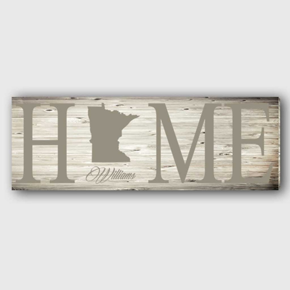 Personalized Home State Canvas Wall Art