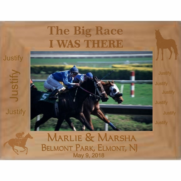 Personalized Custom Engraved Horse Racing Picture Frame