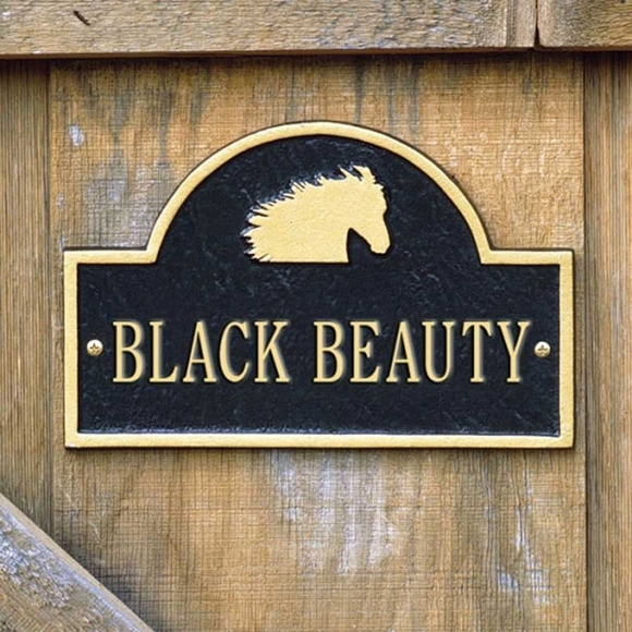 Personalized Horse Stall Marker Plate With Horse Head