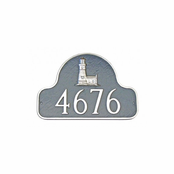 Personalized House Number Sign with Lighthouse