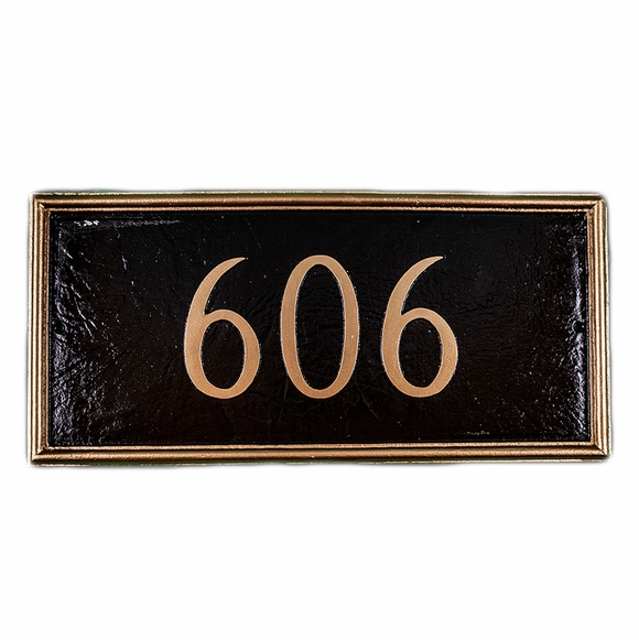 Personalized House Number Sign With Picture Frame Border
