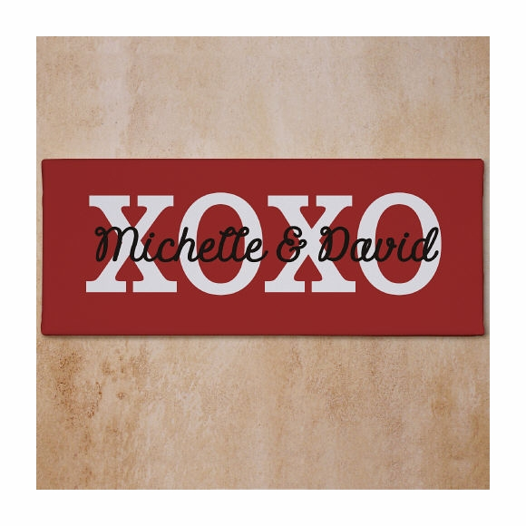Personalized Hugs & Kisses XOXO Wall Sign
