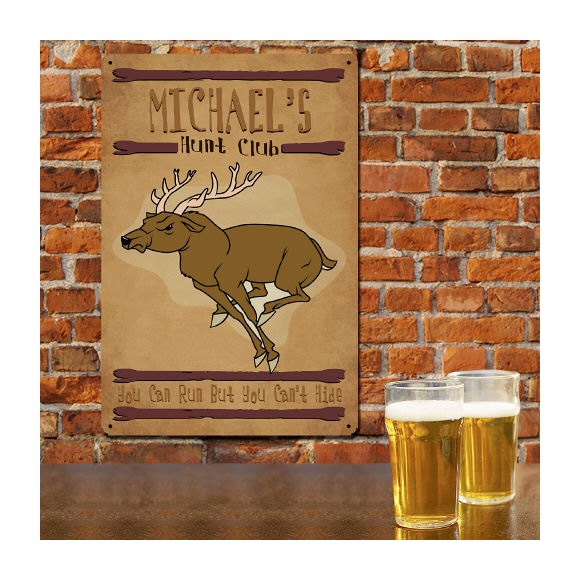 Personalized Hunt Club Wall Sign