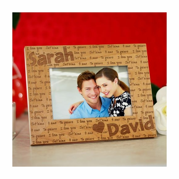 Personalized I Love You Picture Frame In Different Languages