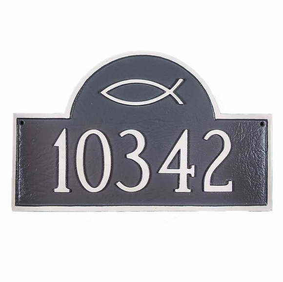Personalized Ichthus Address Plaque