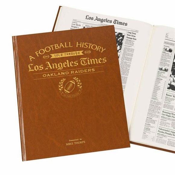 Personalized LA Times NFL Headline Book
